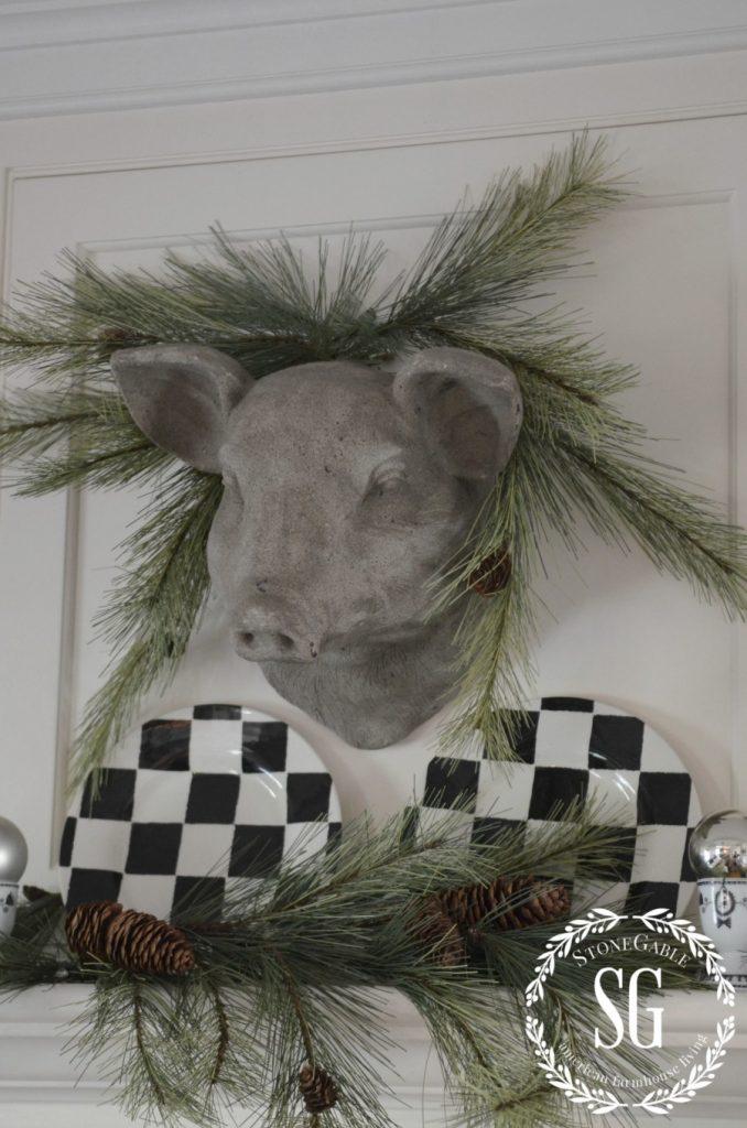 CHRISTMAS FARMHOUSE KITCHEN-stone pig-greens-stonegableblog.com