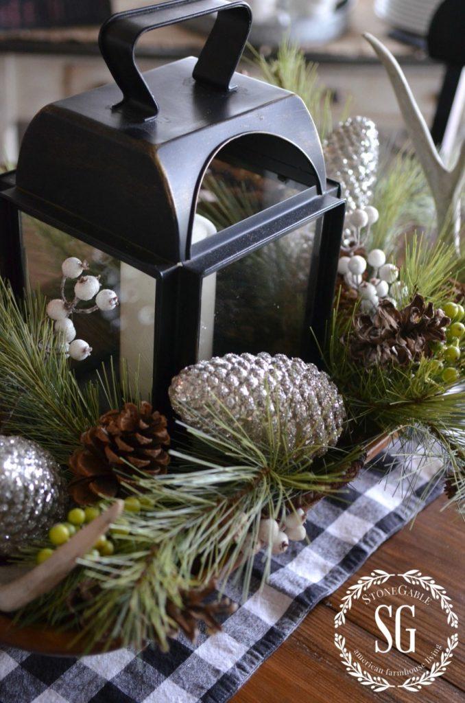 CHRISTMAS FARMHOUSE KITCHEN-white pine-dough bowl-stonegableblog.com