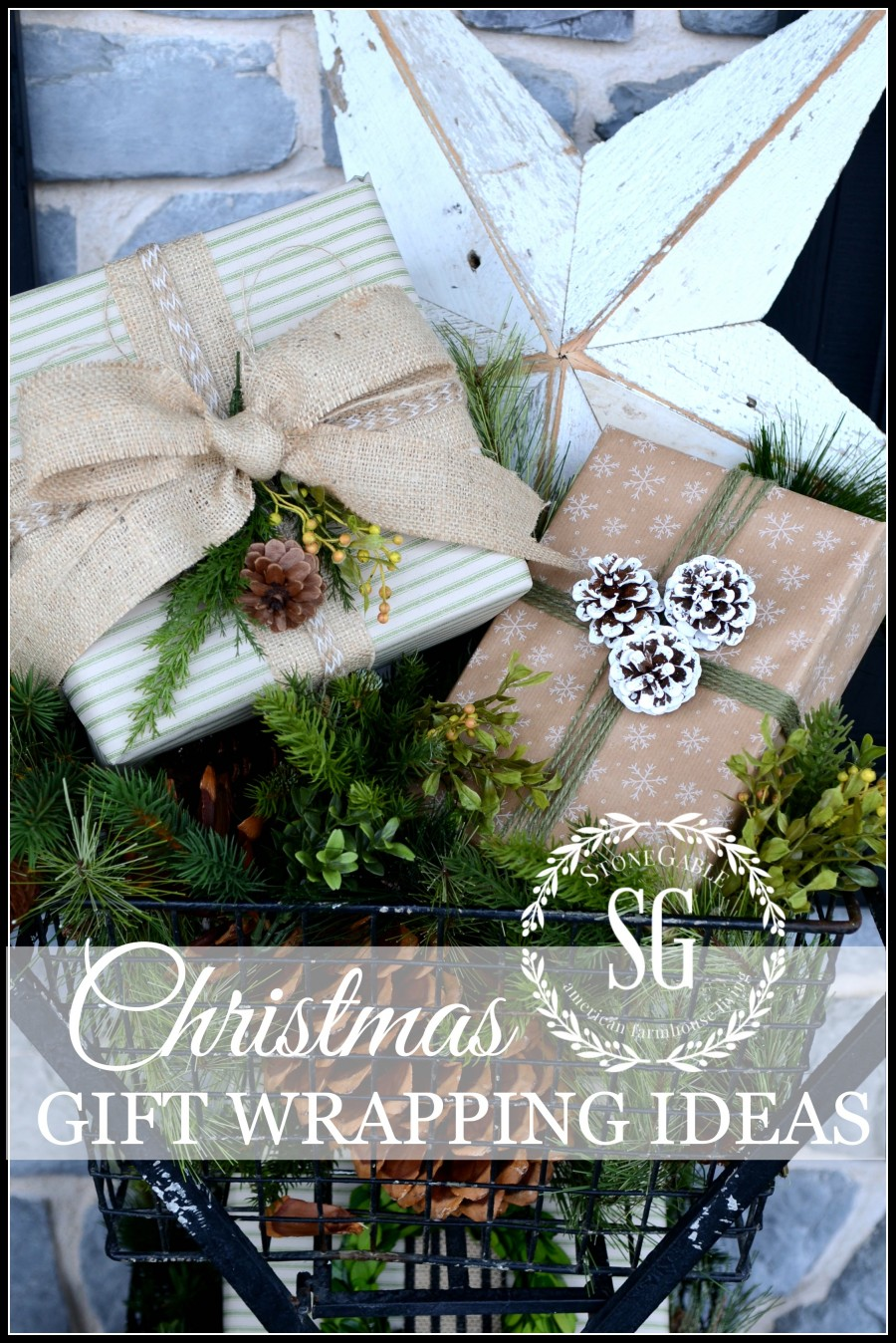 CHRISTMAS GIFT WRAP-great ideas and easy ways to wrap beautiful gifts-stonegableblog.com