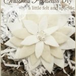 CHRISTMAS POINSETTIA FELT PIN-beautiful additon to dress or package-stonegableblog.com