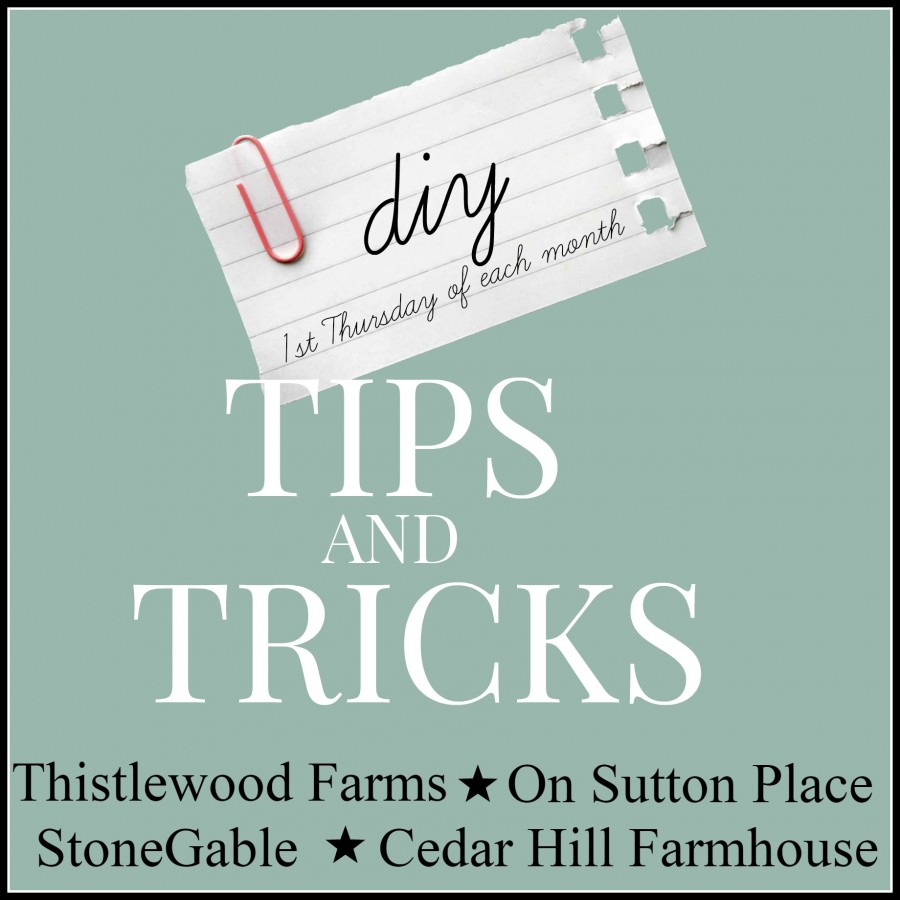 DIY TIPS AND TRICKS-ONCE A MONTH-stonegableblog.com