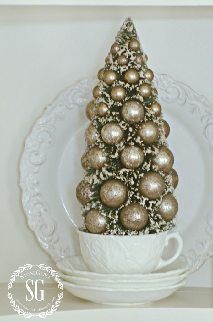 FRENCH INSPIRED CHRISTMAS IN THE DINING ROOM-vintage French tree-stonegableblog.com
