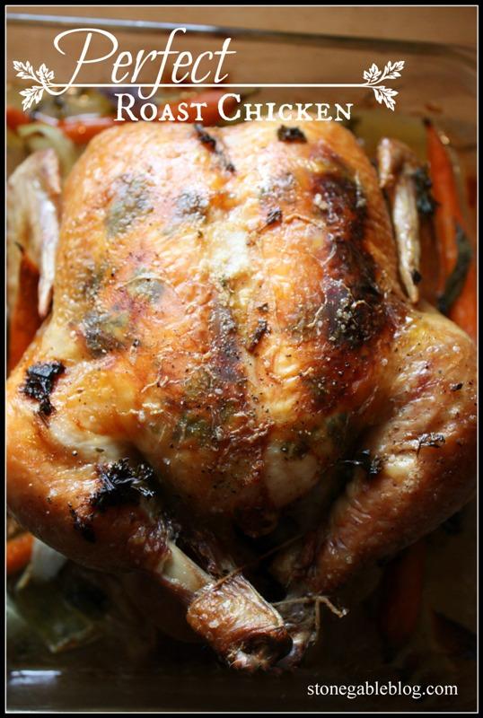 Perfect Roast Chicken Title Page - stoneglableblog.com