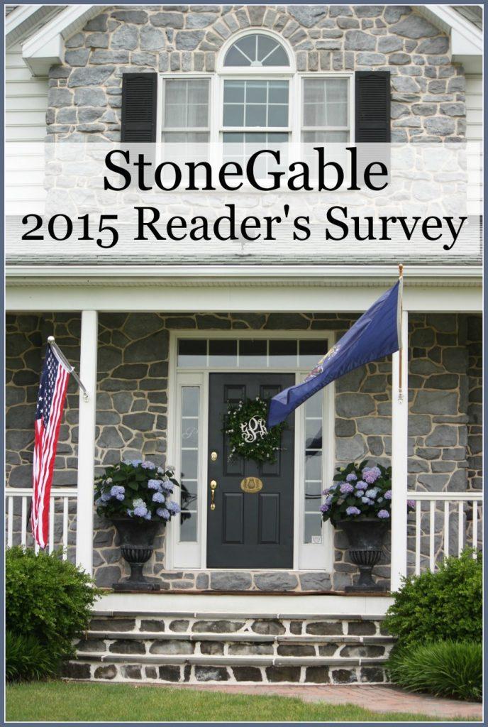 StoneGable 2015 Reader's Survey-stonegableblog.com
