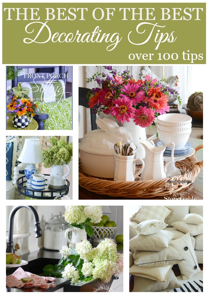 THE BEST OF THE BEST DECORATING TIPS- get over 100 decorating tips-stonegableblog.com
