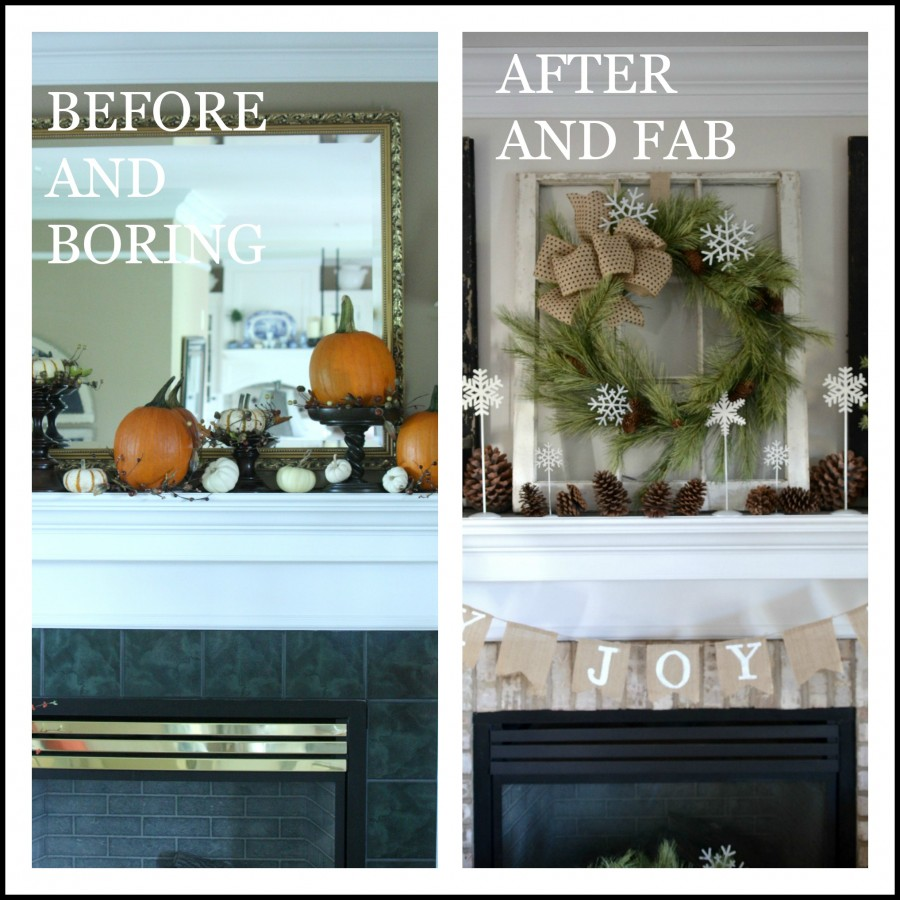 TIPS AND TRICKS MANTELS-BEFORE AND AFTER-stonegableblog.com