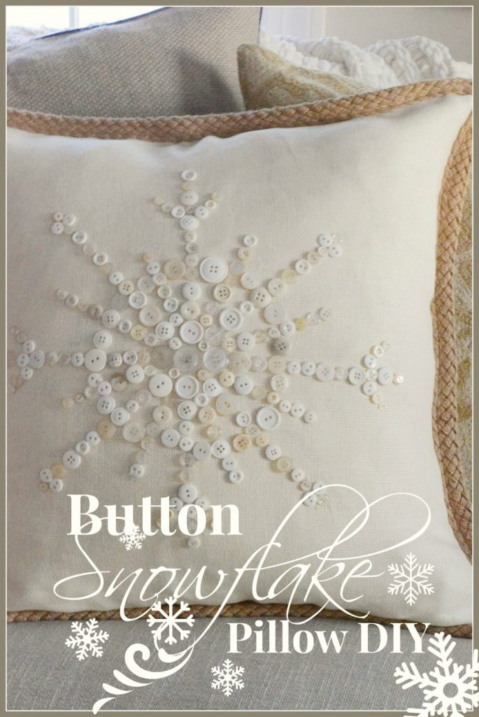 Button Snowflake Pillow-Title Page-stonegableblog.com
