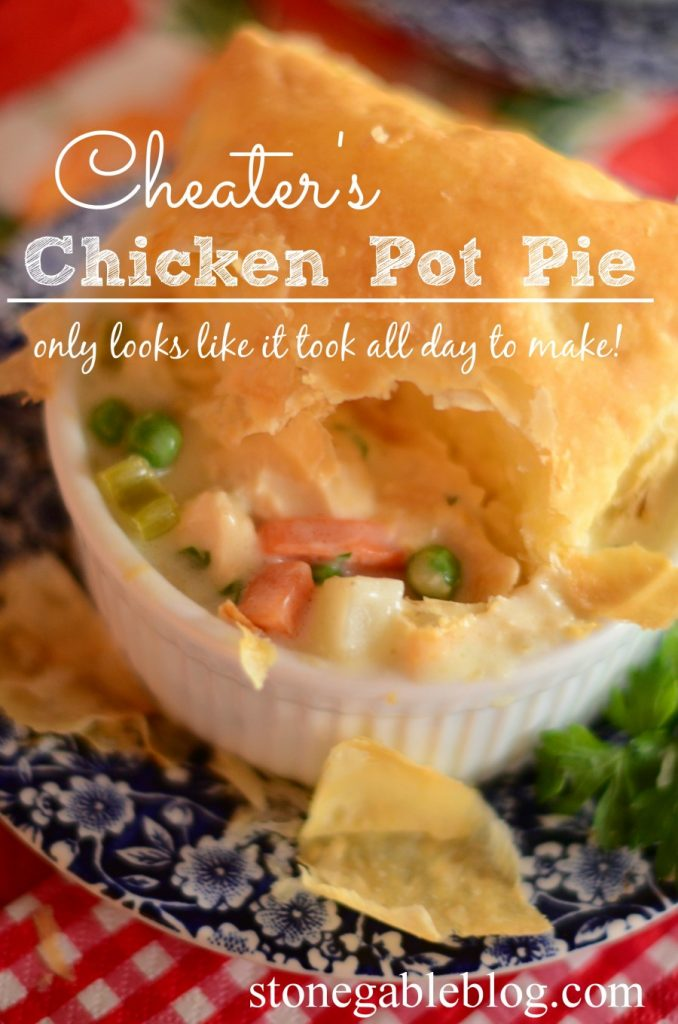 Cheater's Chicken Pot Pie-Title Page-stonegableblog