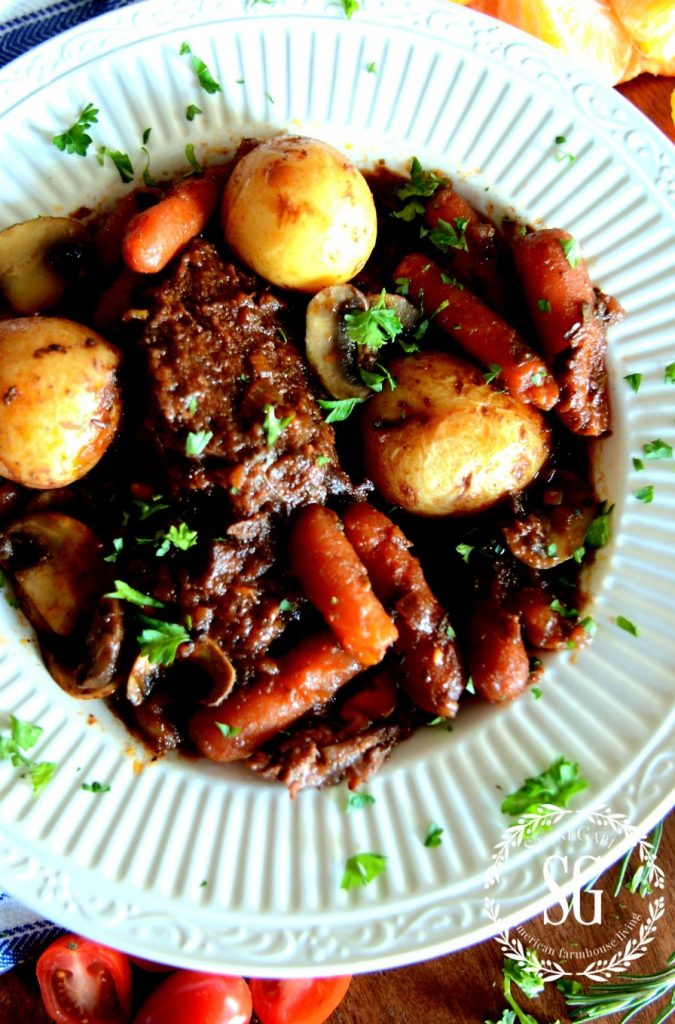 PERFECT BRAISED POT ROAST- scrumptious-hearty-winter stew-stonegableblog.com