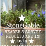 RESULTS OF THE STONEGABLE READER'S SURVEY, CHANGES AND A BIG ANNOUNCEMENT!