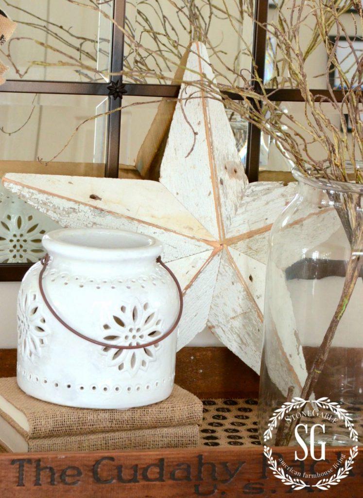 WINTER FOYER-large white star-stonegableblog.com