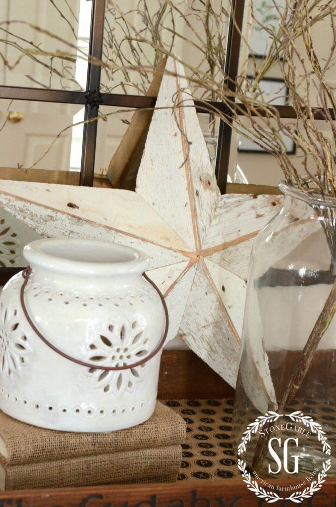 WINTER FOYER-white pottery-stonegableblog.com