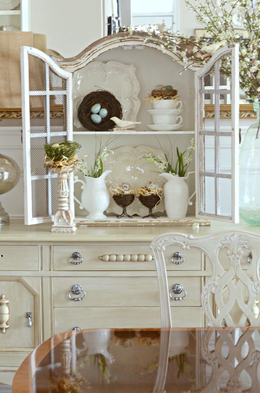 DECOR STEAL WHITE HUTCH- open-spring decor-dining room-stonegableblog.com