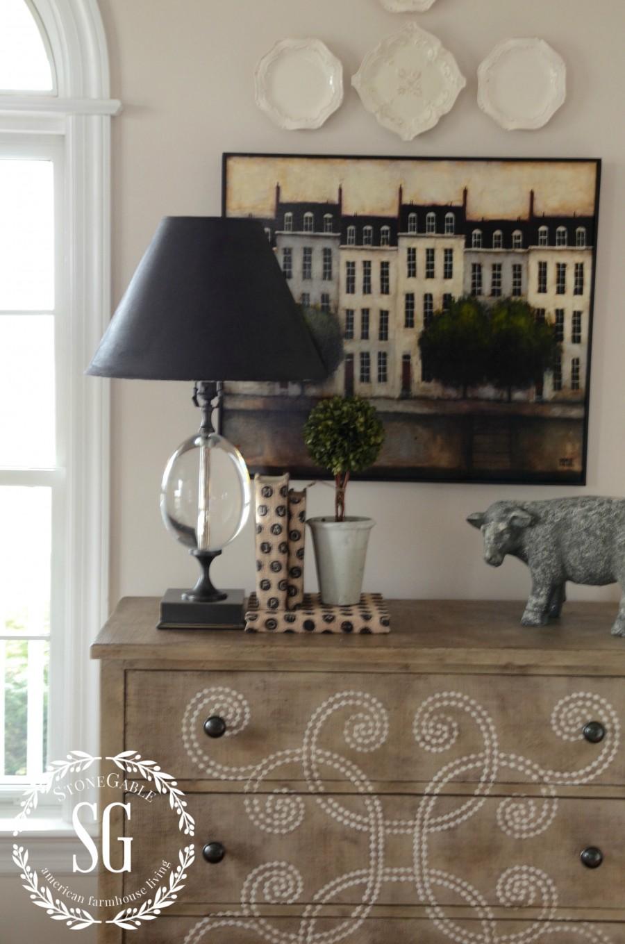Upcycling A Lamp Shade Using Paint Stonegable