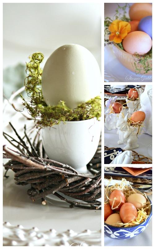 EASTER TABLE IDEAS- easter eggs-stonegableblog.com