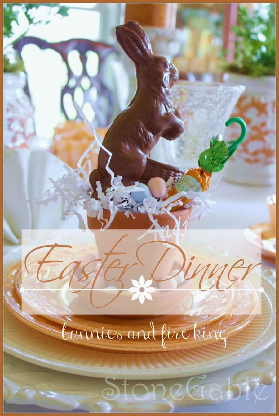 EASTER DINNER-creating a beautiful Easter tablescape-stonegableblog.com