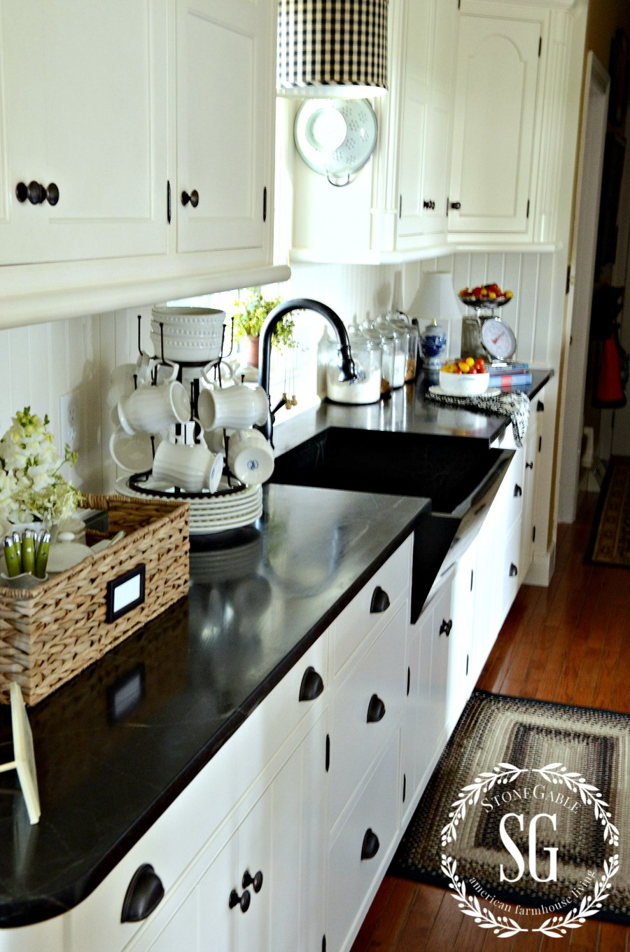 FARMHOUSE FRIDAY-white kitchen cabinets-stonegableblog.com