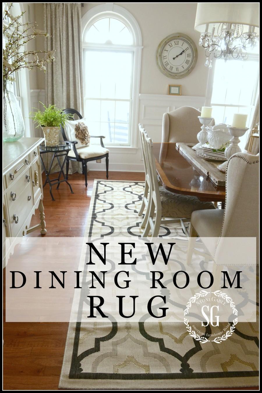 NEW DINING ROOM RUG-changes and updates-stonegableblog.com