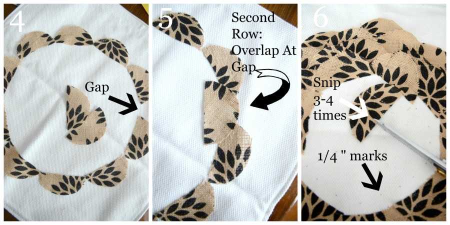 NO SEW BURLAP FLOWER PILLOW-instructions 4 to 7-stonegableblog.com