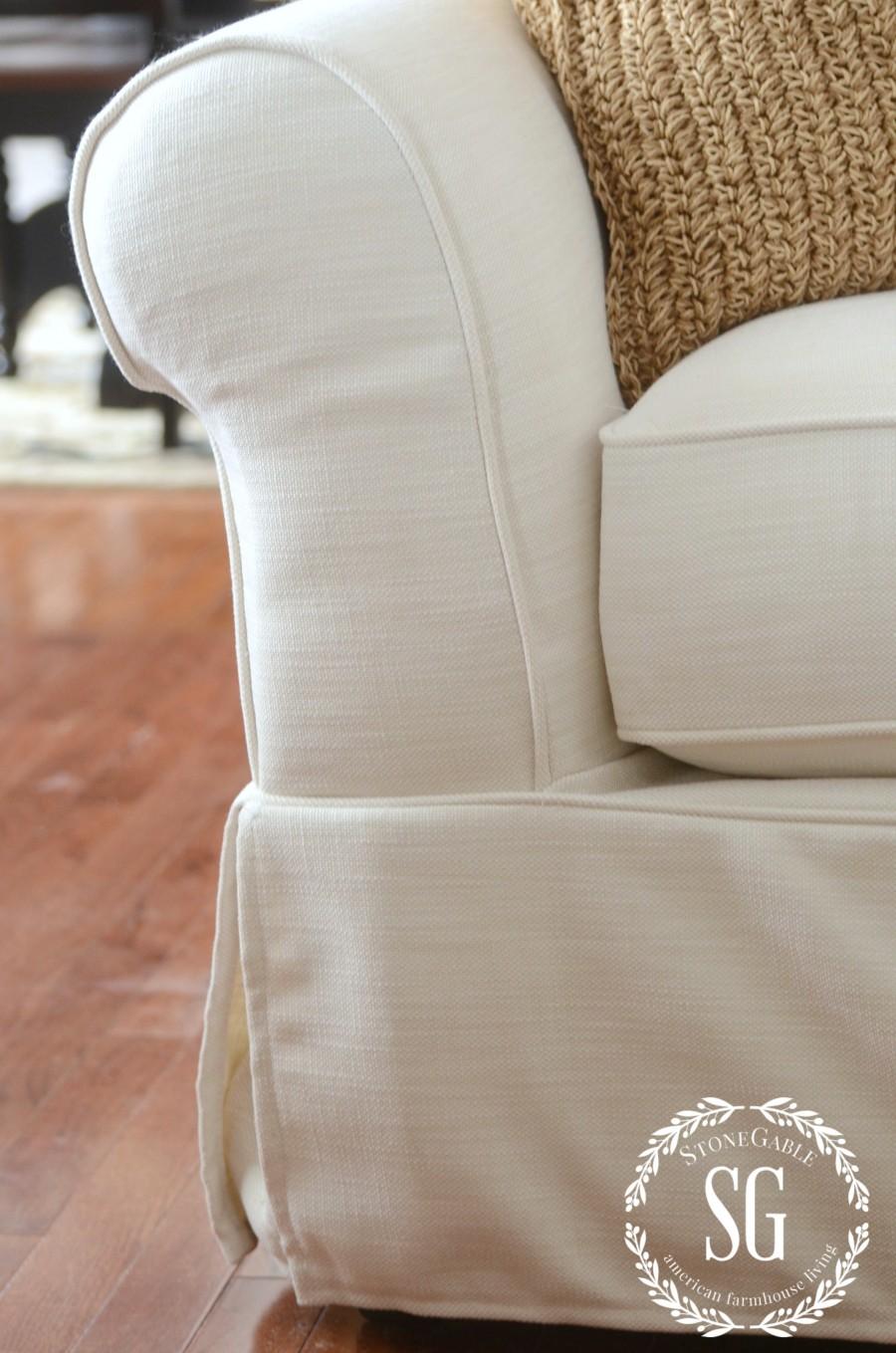 POTTERY BARN SOFA-rolled arm sofa-stonegableblog.com
