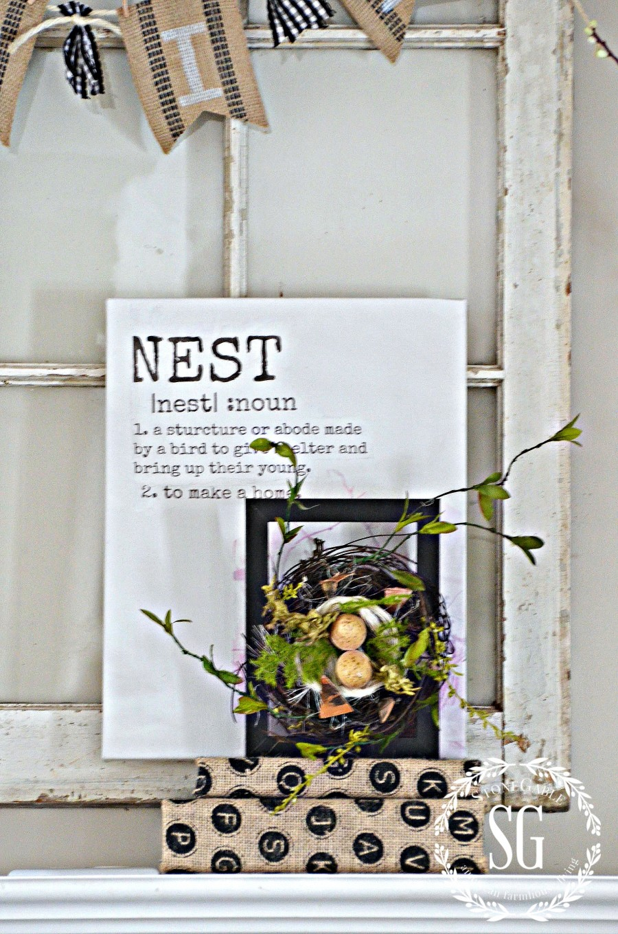 SPRING MANTEL-nest and nest definition-stonegableblog.com