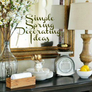 budget friendly spring decorating ideas atthepicketfence.com