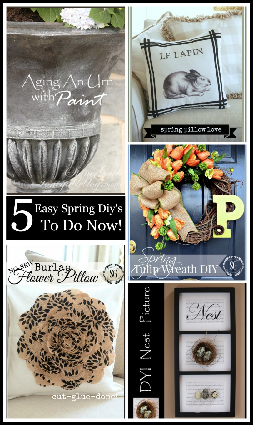 5 EASY SPRING DIY'S TO DO NOW-Creative ways to bring Spring to your home now-stonegableblog.com
