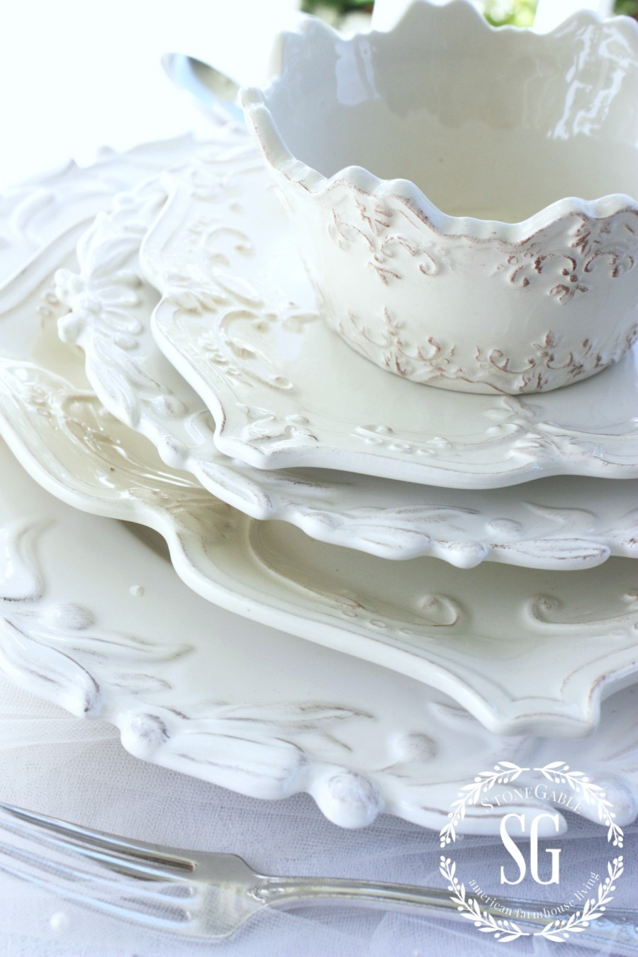 5 QUESTIONS YOU ASKED STONEGABLE-white dishes-stonegableblog.com