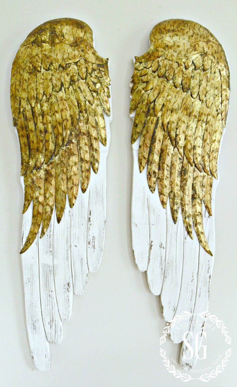 DECOR STEALS ANGEL WINGS- beautiful wood and metal wings-stonegableblog,com