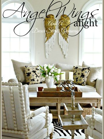 DECOR STEALS ANGEL WINGS-big, beautiful and detailed wings-stonegableblog,com