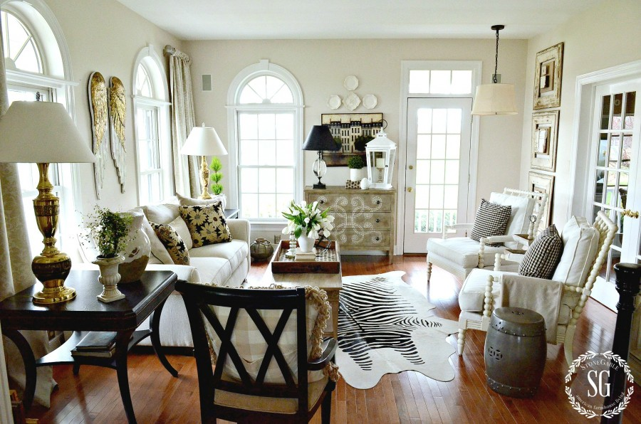 DECOR STEALS ANGEL WINGS-view of living room-stonegableblog,com