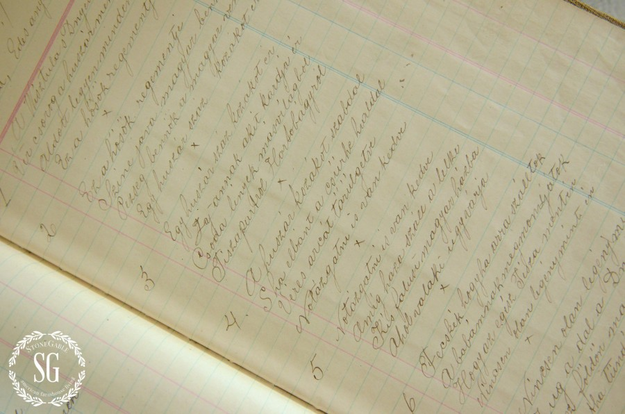 DISPLAYING FAMILY TREASURES- great grandfather's poetry-stonegableblog.com