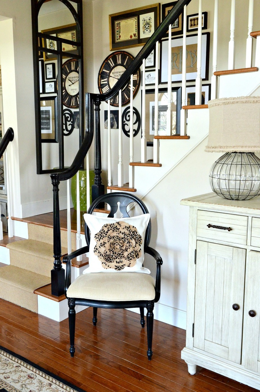 Decor Steals -Clock on the stairs-stonegableblog.com