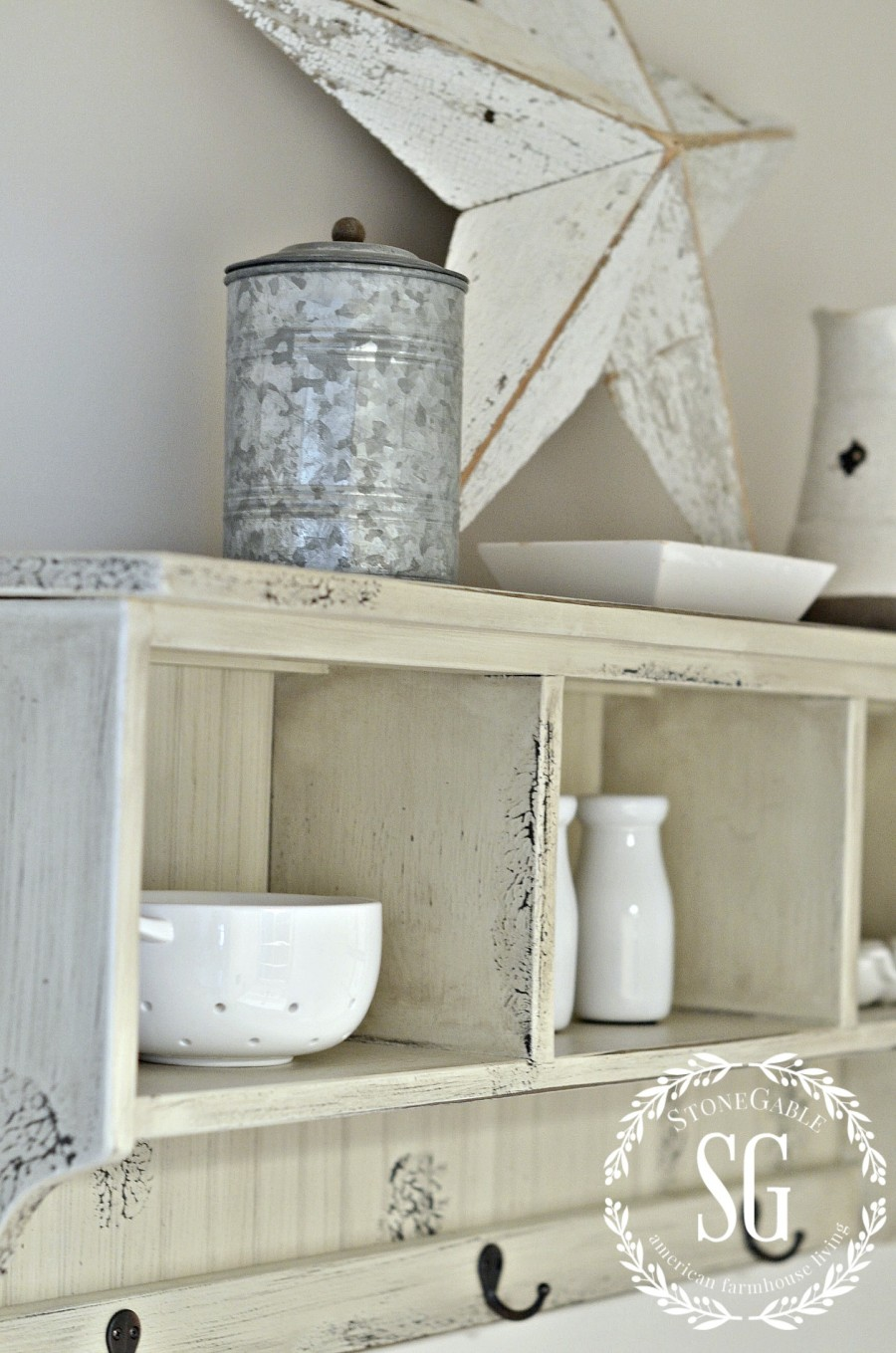 FARMHOUSE POWDER ROOM REVEAL-shelf-stonegableblog.com