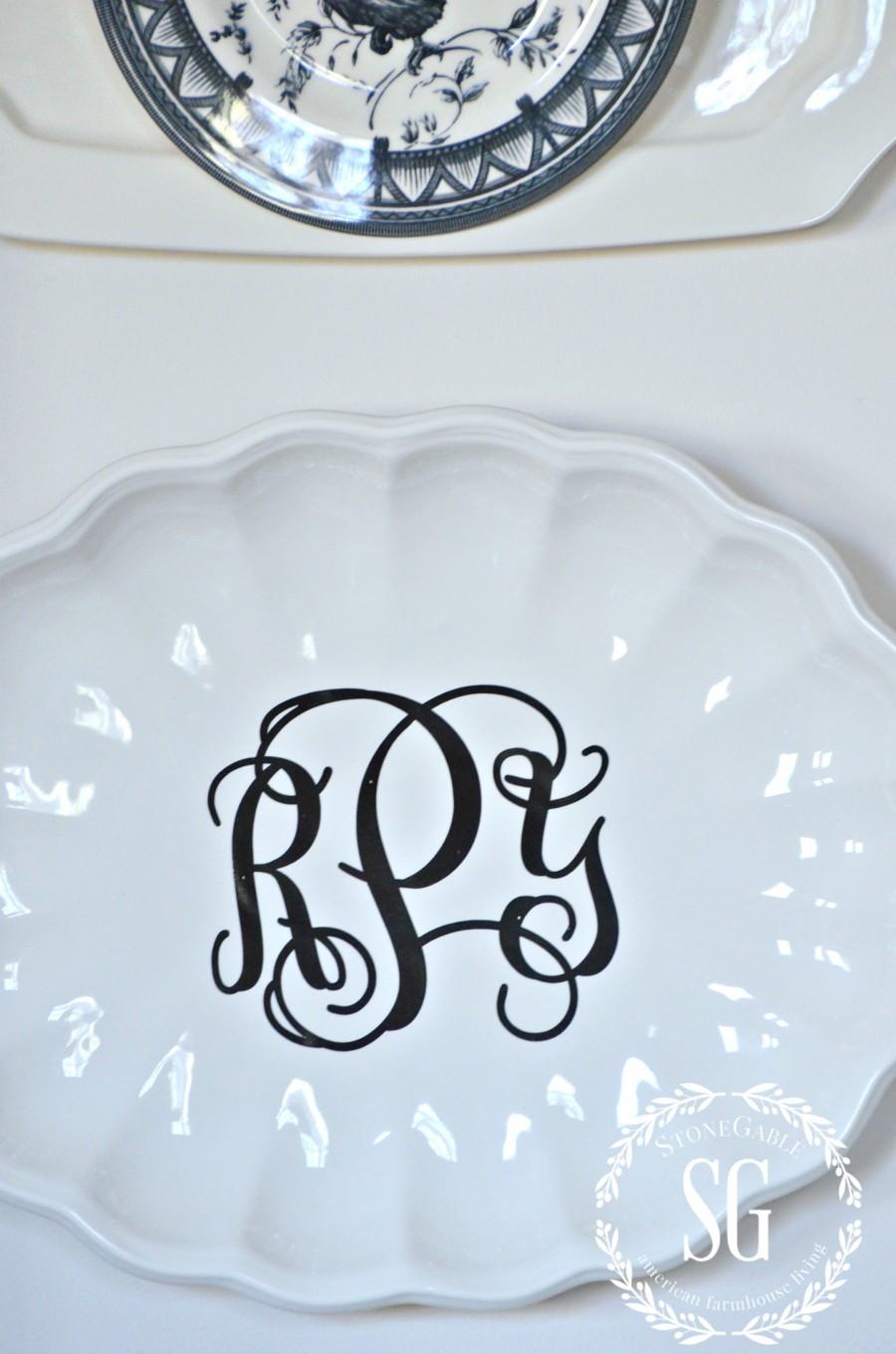 HOW TO LAYER DISH ART-embellished platters-stonegableblogcom