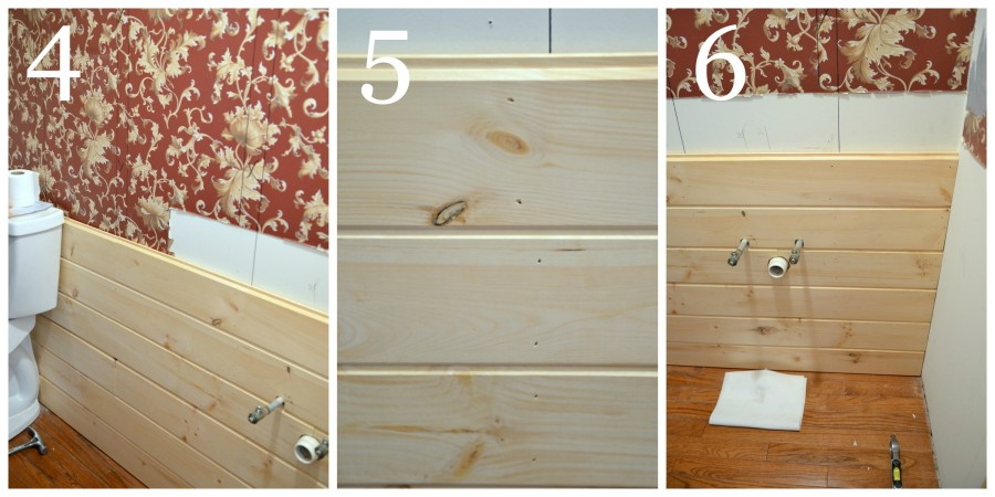 HOW TO PLANK A WALL THE EASY WAY- instructions 4 to 6-stonegableblog.com