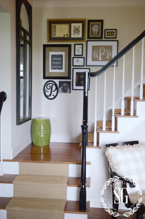 How-To-Create-An-As-You-Go-Wall-Art-Gallery-stairs-and-art-stonegableblog.com_1-e1407881497139