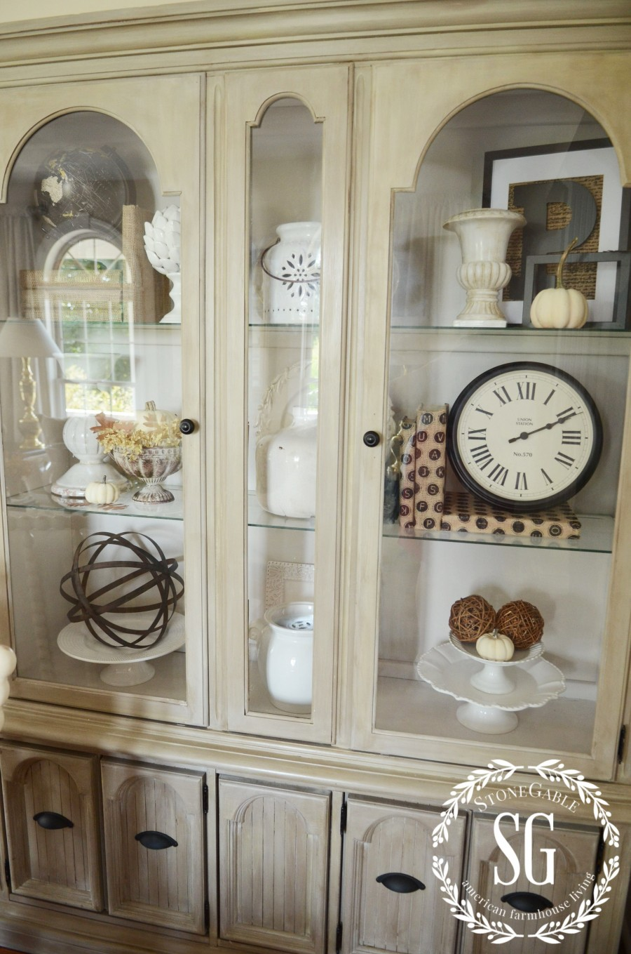 The magic of paint budget friendly ideas stonegable for Hutch decor