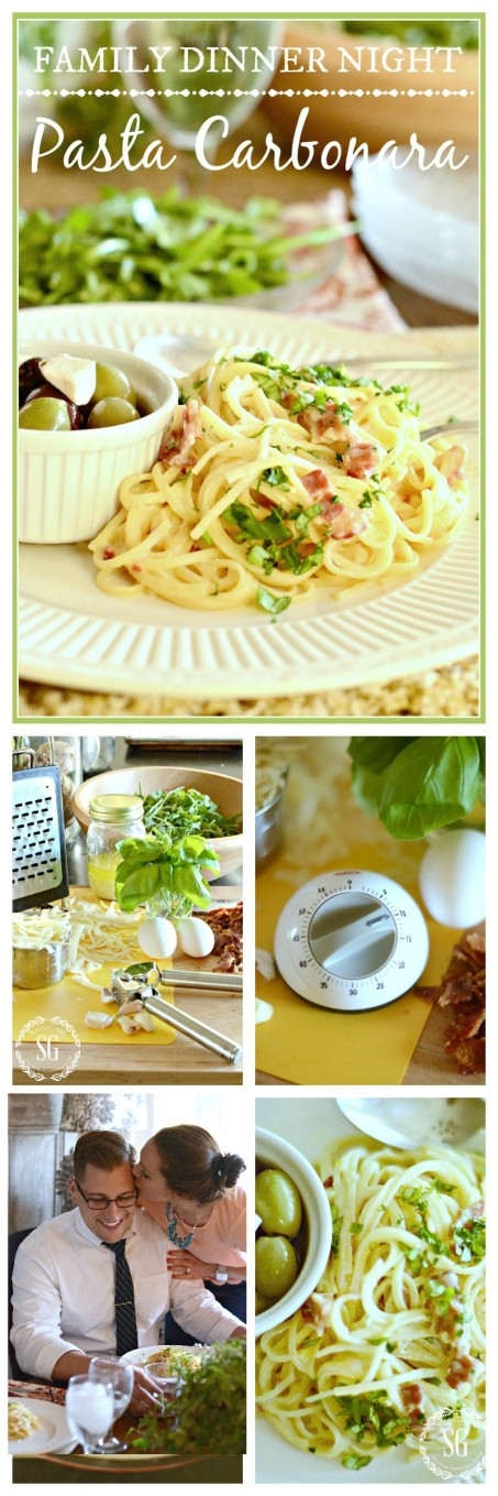 PASTA CARBONARA- A scrumptious, easy one pot family meal. A must try!-stonegableblog.com