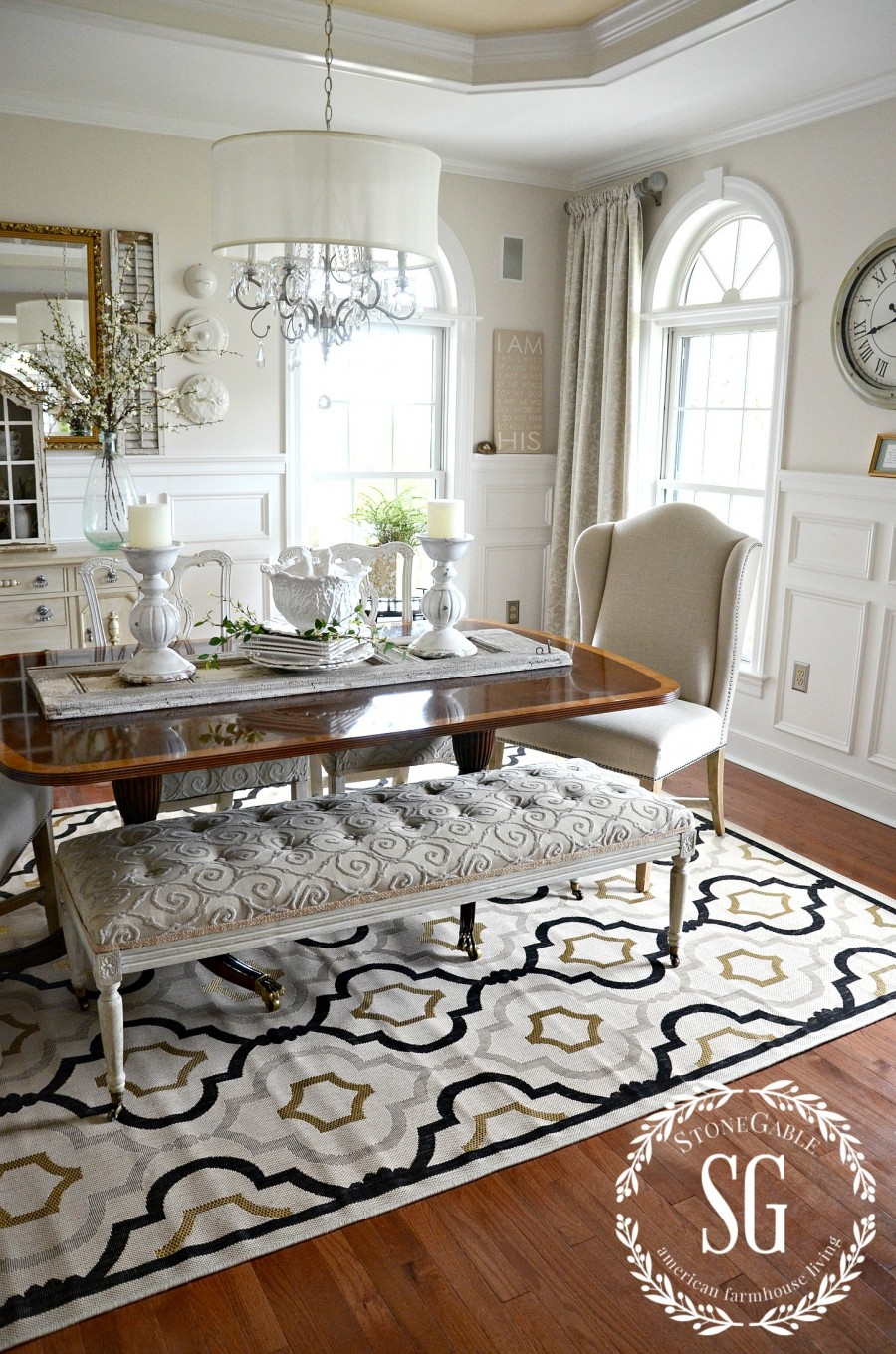 5 Rules For Choosing The Perfect Dining Room Rug Stonegableblog