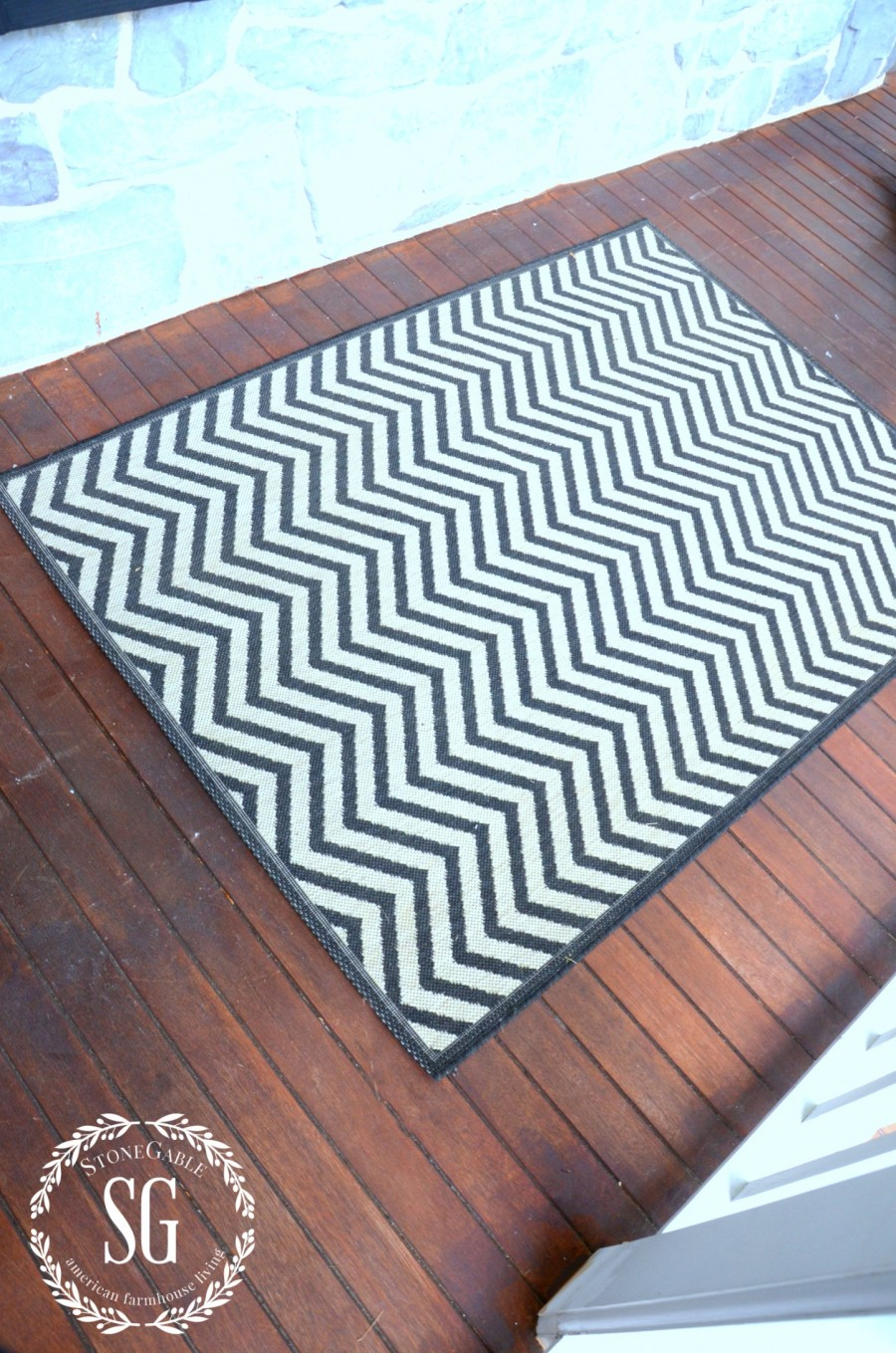 6 ESSENTIALS FOR CREATING AN OUTDOOR SPACE-add a rug-stonegableblog.com