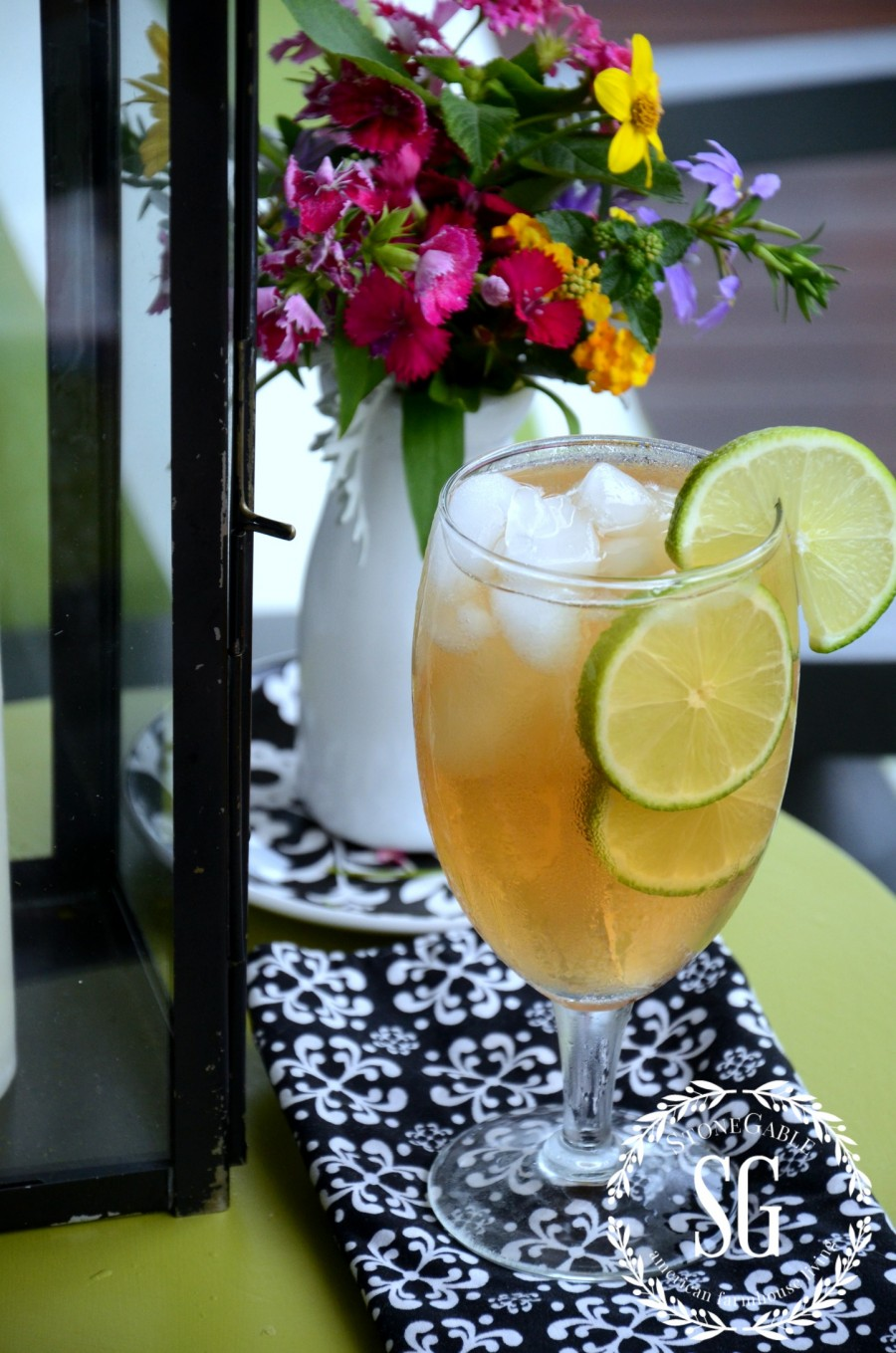 6 ESSENTIALS FOR CREATING AN OUTDOOR SPACE-iced tea on the front porch-stonegableblog.com