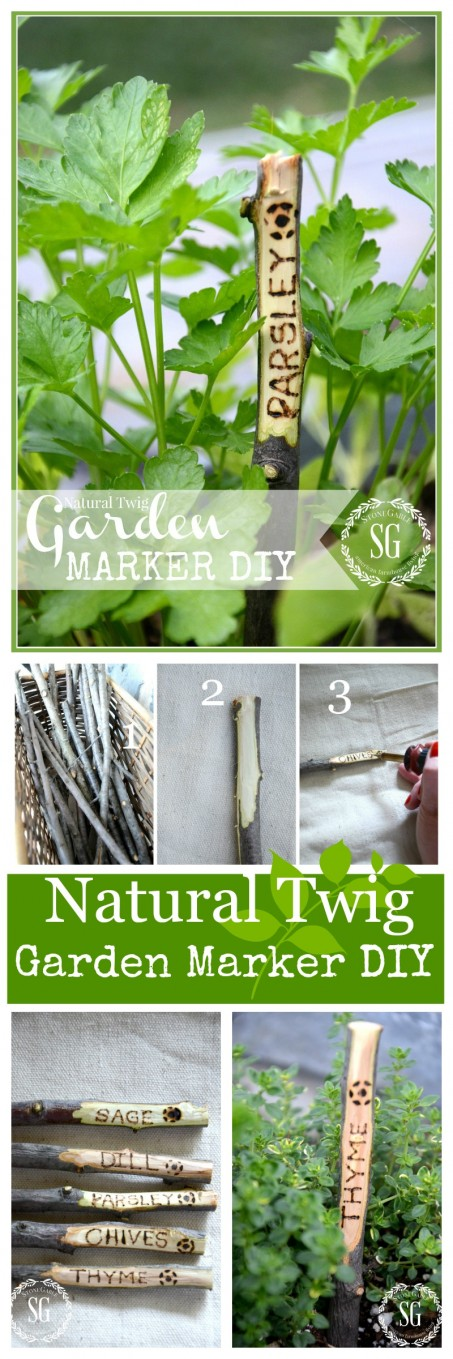 GARDEN MARKER DIY-Easy to make organic markers for the garden!-stonegableblog.com