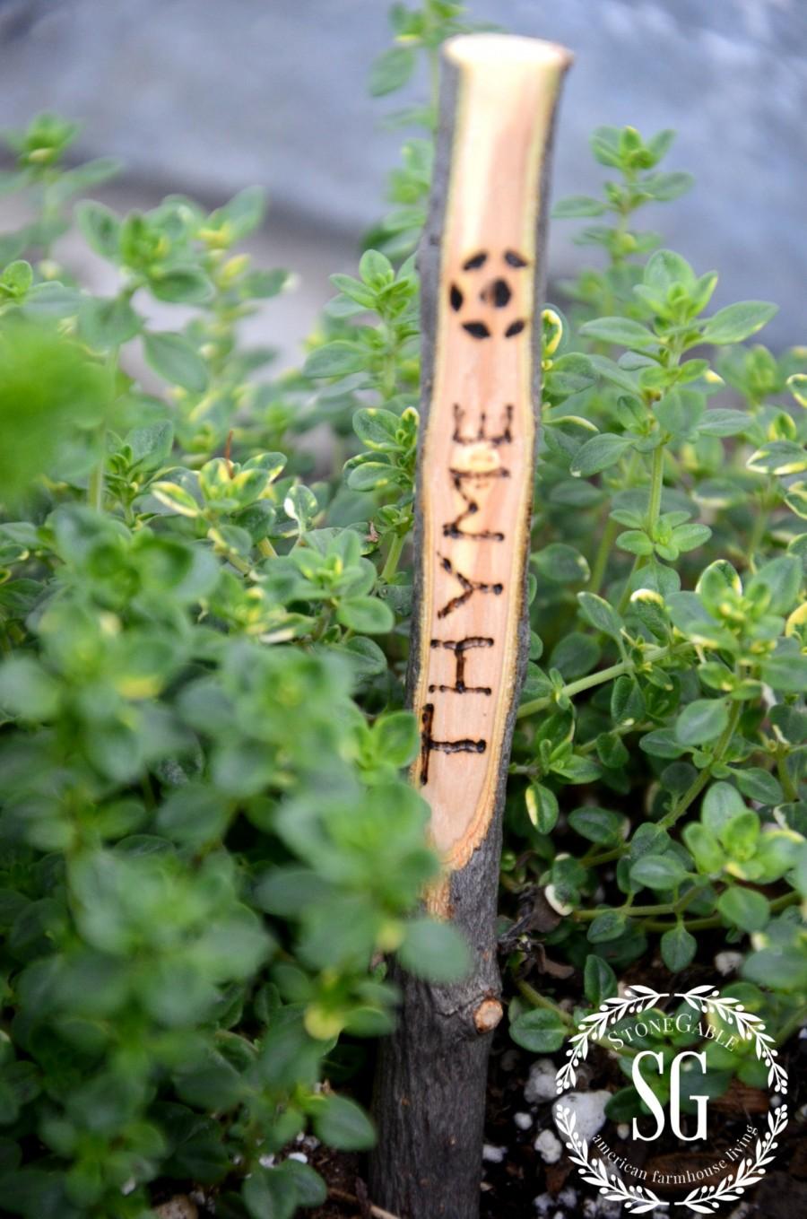 GARDEN MARKER DIY-garden markers and thyme-stonegableblog.com
