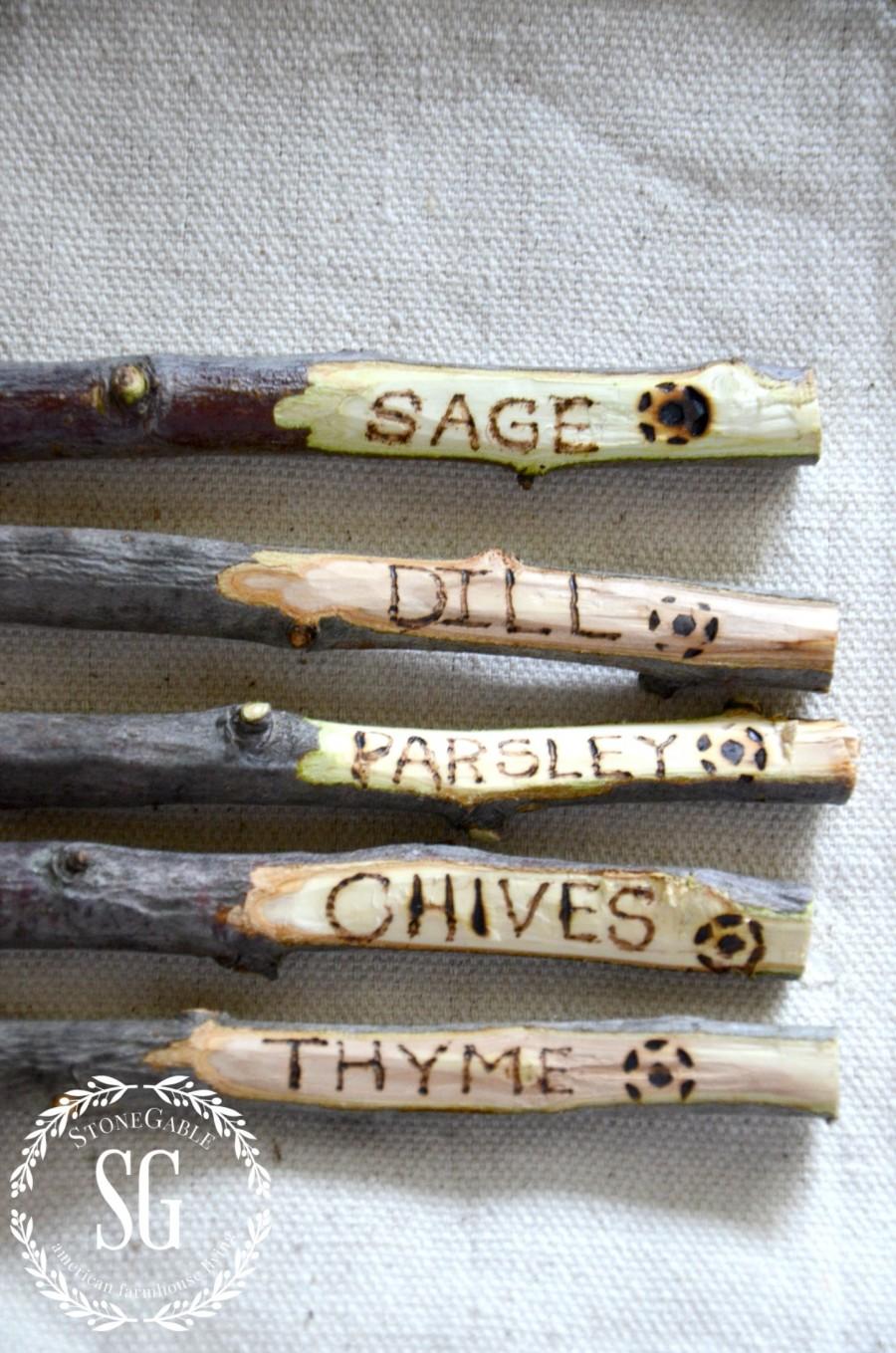 GARDEN MARKER DIY-herb garden markers-stonegableblog.com
