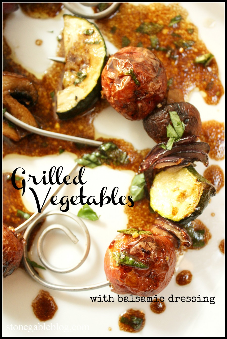 Grilled Vegetables With Balsamic Dressing stonegableblog.com Title Page