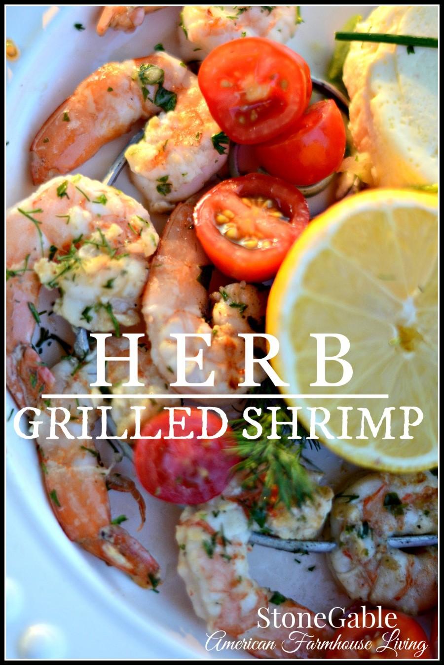 HERB GRILLED SHRIMP-easy and scrumptious-stonegableblog.com