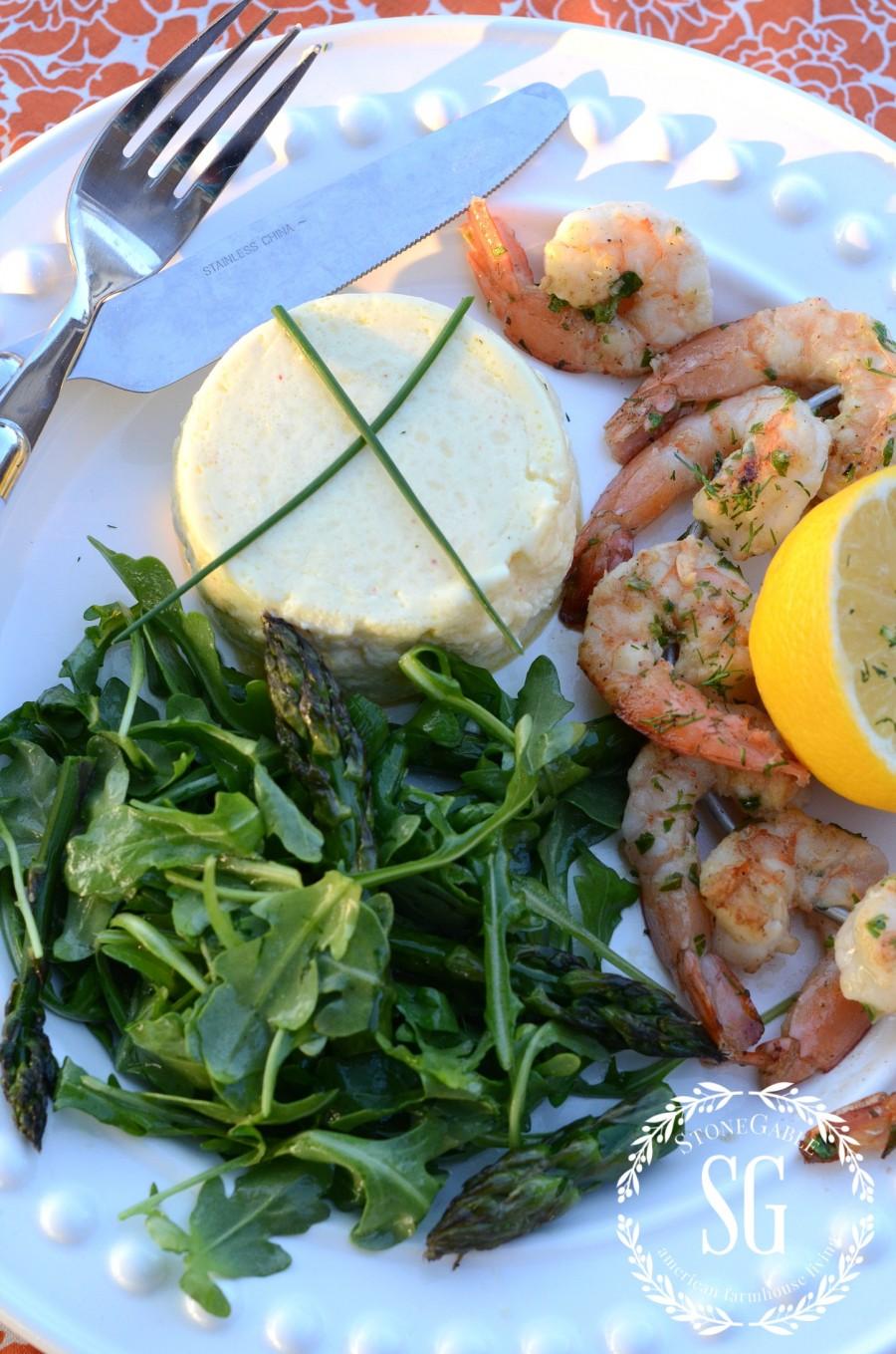 PARMESAN FLAN-a light scrumptious dinner-stonegableblog.com