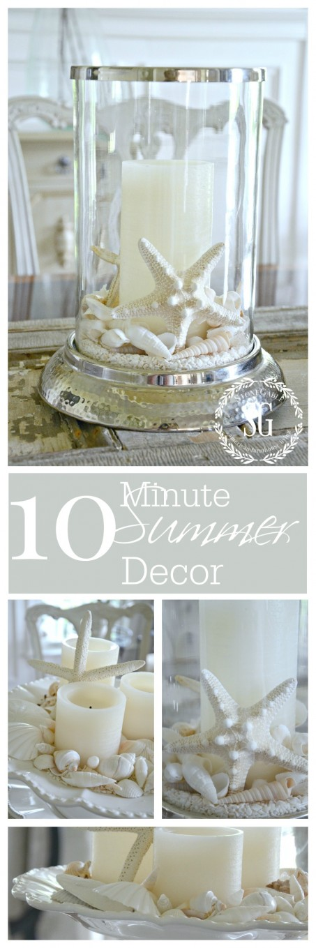 10 MINUTE SUMMER DECOR-Create a summery centerpiece in less than 10 minutes!-stonegableblog.com