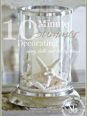 10 MINUTE SUMMER DECORATING- Using shell in fun ways-stonegableblog.com